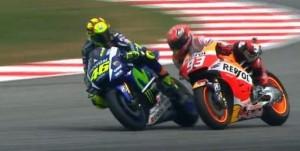 Rossi Marquez finish